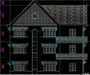 File cad biệt thự 3 tầng