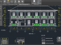 file cad trụ sở,file cad trụ sở 2 tầng,cad trụ sở 2 tầng,trụ sở 2 tầng,bản vẽ trụ sở