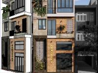 Sketchup + Enscape Nhà phố 4 tầng rộng 6 2m