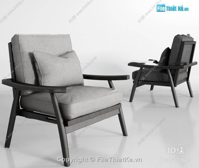 Mẫu Nghế Sofa Gỗ đơn Hiện đại Sang Trọng